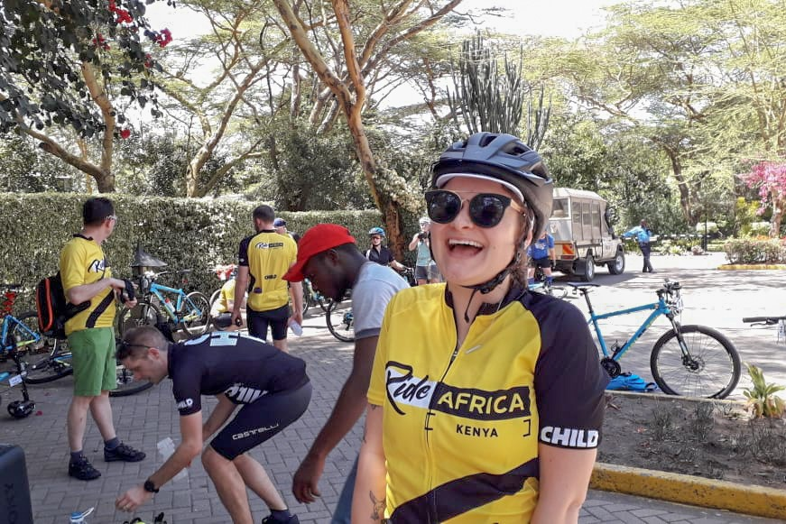Our Child.org team on the ground - We always have multiple staff from Child.org on the ride with you. Francine (pictured here) is your main support and go-to throughout your adventure.
