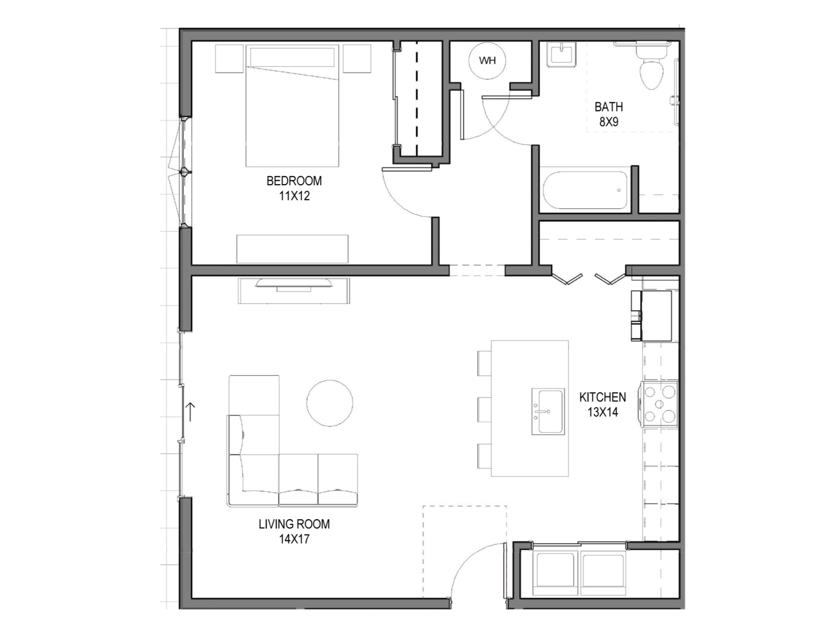 One Bedroom Fairpoint Condos