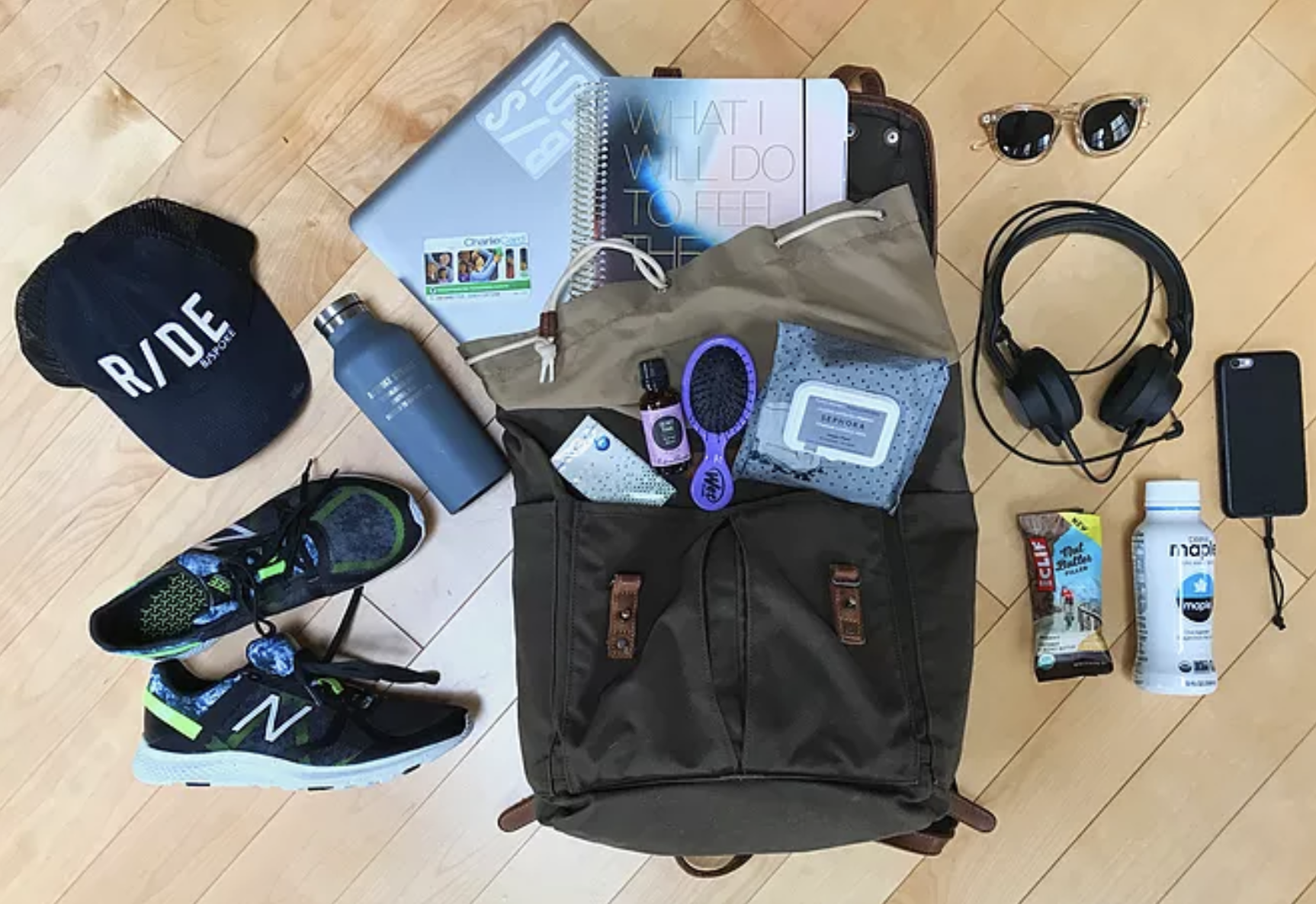 What's in Aly Raymer's Bag? - For most of us, simply remembering to pack a gym bag is a victory. But for those who've made careers out of health and fitness, it's all in a day's work. In this series, we'll take you inside those expertly packed bags.
