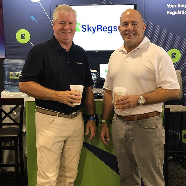 Our leadership team is here at #Osh19 to help spread the word about SkyRegs and check out the airshow! Have you been by our booth yet? Hangar D, Aisle C!