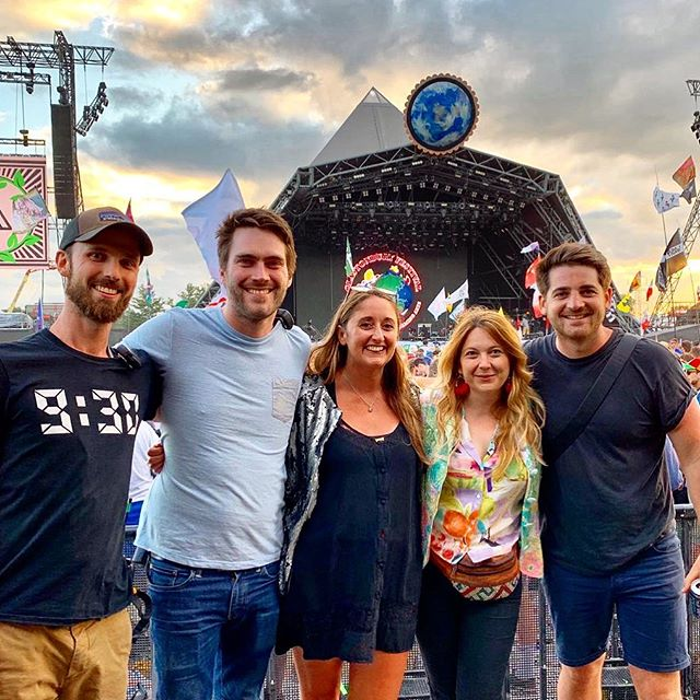 Thanks to these lovely people for an amazing day @glastofest #pyramidstage #festivalhighlight #thecure #vampireweekend #luckylady