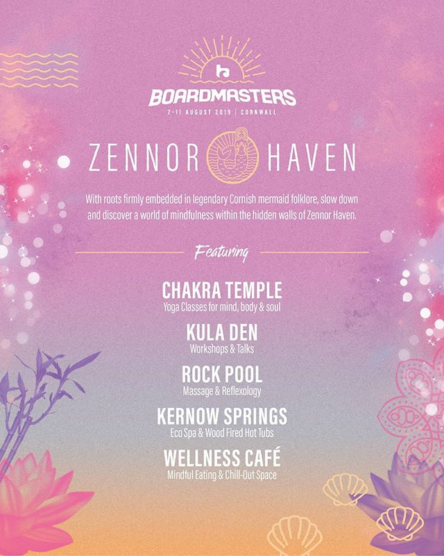 Super excited to have produced ZENNOR HAVEN this year at Boardmasters!✨ Get ready to immerse yourselves in our amazing line up. 🙌 The perfect way to get in the mood/unwind for @wutangclan, @florenceandthemachine and @foals 🎉  YOU WON'T WANT TO MISS THIS! 🏄‍♀️ For some meantime ZEN... why not check out some of our content right now!  @blakeybayfitness @thestrengthtemple @naysyoga @almondblossomyoga @myolondon @ninelivesyoga  And thats not half of it! So keep your eye on the grid ☀️ #seeyouatthebeach #Boardmasters19 #zennorhaven #surffestival #productioncompany #wellbeingarea #yoga #portlandproductions #cornwall #newquay #mindfulness #wellness
