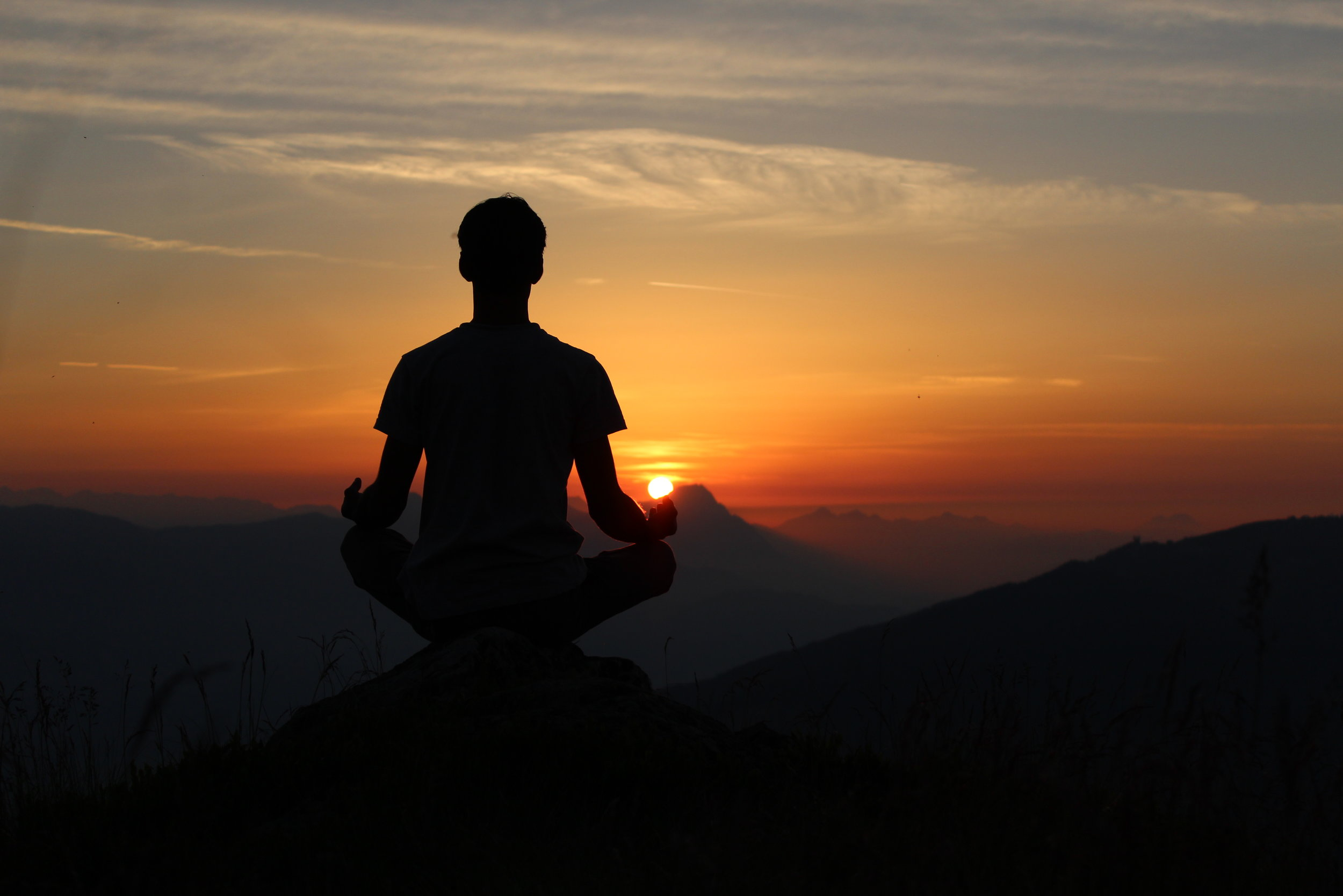 Meditation is simply becoming aware of the moment.