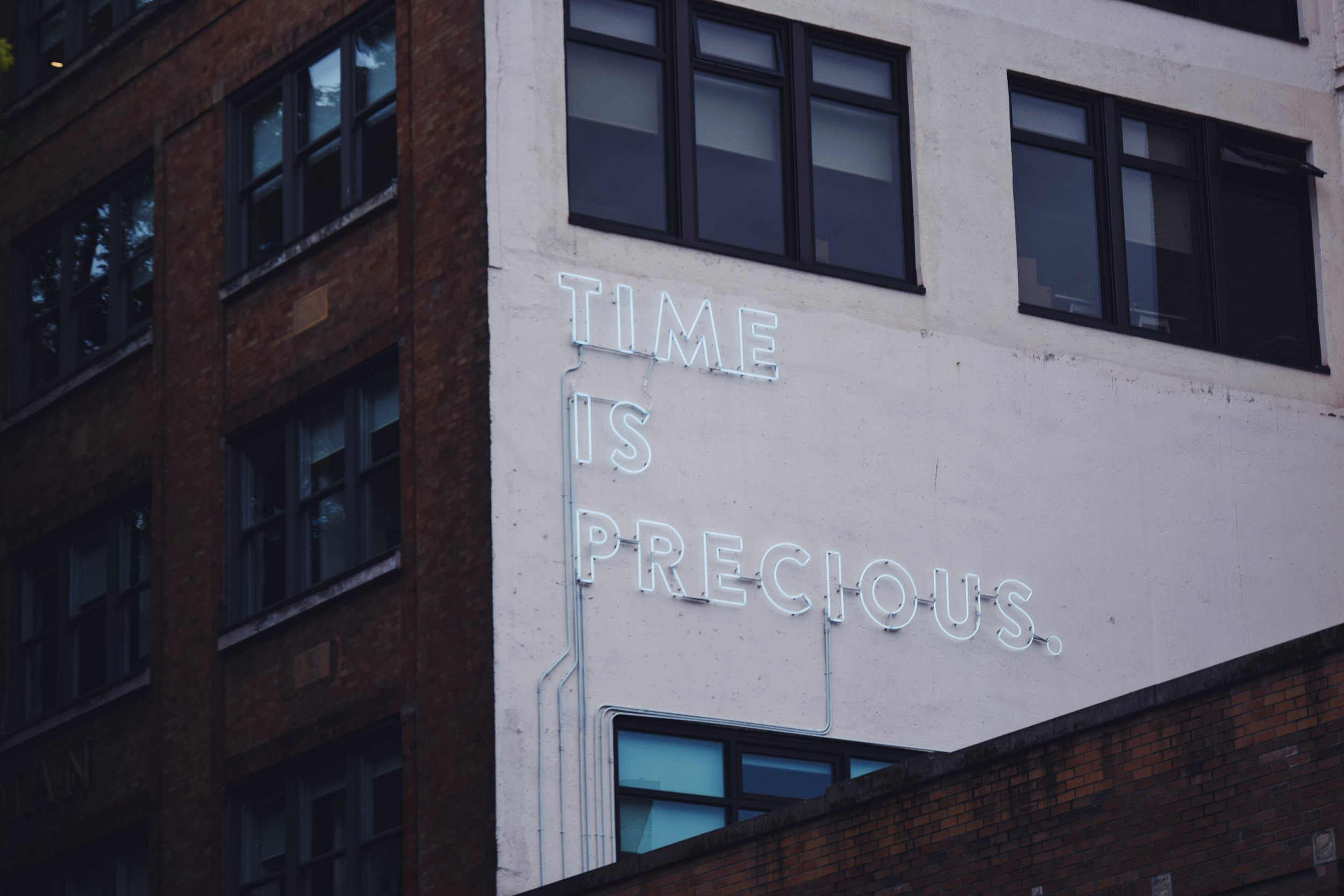 Your time, and the time of others is precious.