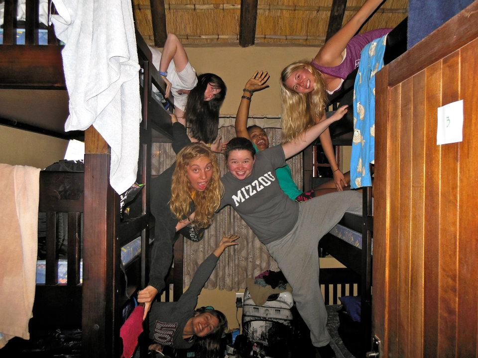 Having some fun at hostel in South Africa