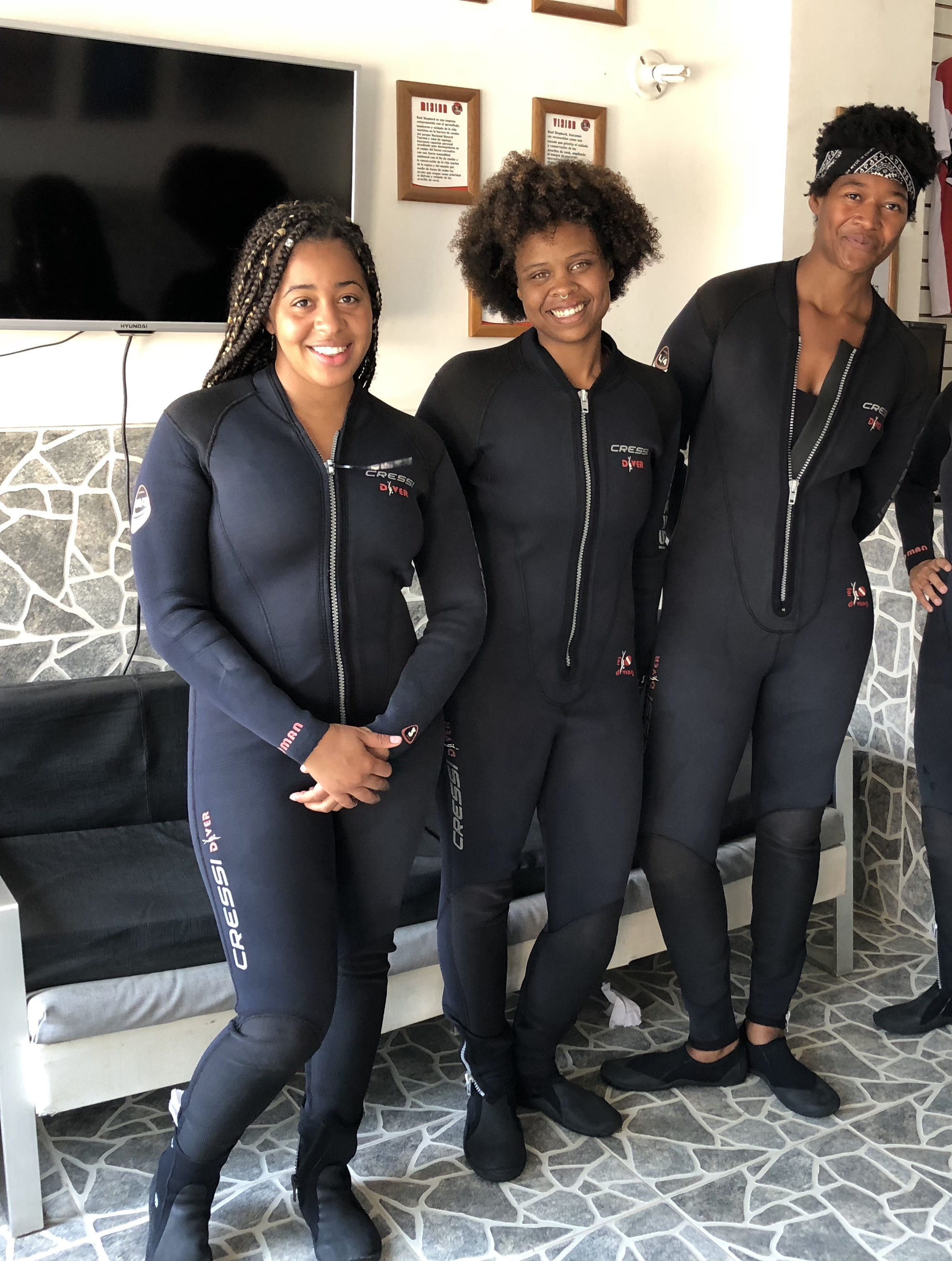Suited up on our first day of scuba school