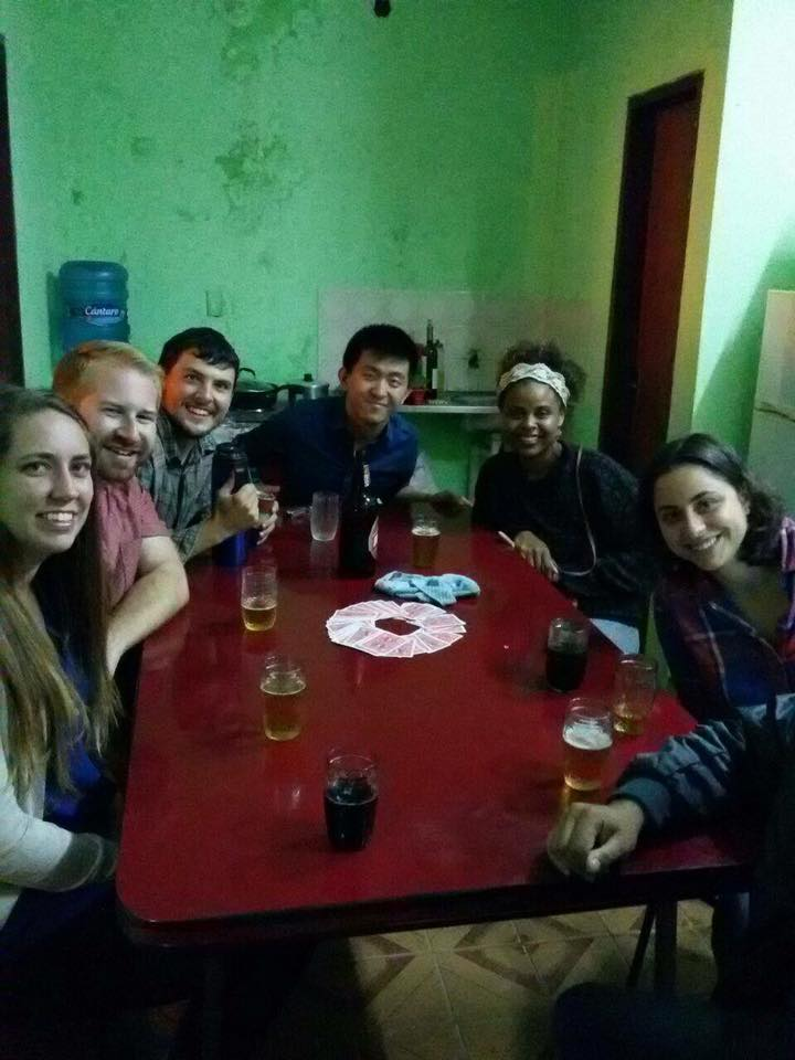 A typical VAC meeting in Pilar. Card games, beer, and lots of fun.