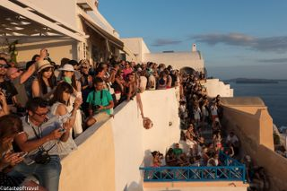 Santorini - Doesn't look like the pictures on the internet! We'll make sure you don't go at the wrong times and get caught amongst all the crowds.