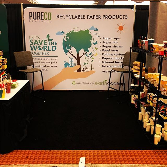 Just finished exhibiting our #recyclable paper cups and foodservice packaging made with #EarthCoating  @cinemacon in #lasvegas