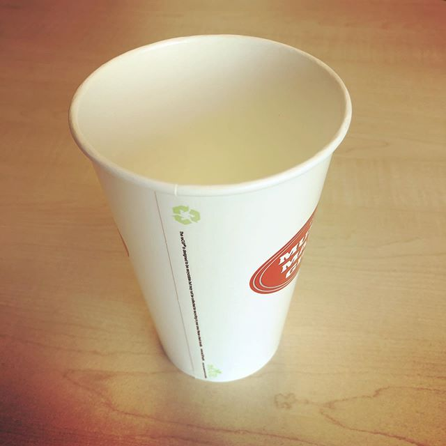 Paper hot and cold cups made with #earthcoating use 51% less plastic and are designed to be easily pulped into #recycled paper using conventional paper #recycling equipment.