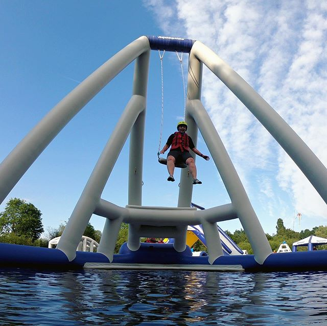 Have you experienced the towering @aquaglide #skyrocket? Today is your last chance this year to get on the #aquapark - It's the final day of our season and we can't quite believe it's come round so quickly - it's literally flown by! Still availability #bookonline #onlinediscount #inflatablewaterpark #waterfun #lincoln #lincolnshire #lincolnaquapark ➡️www.lincolnwaterpark.co.uk