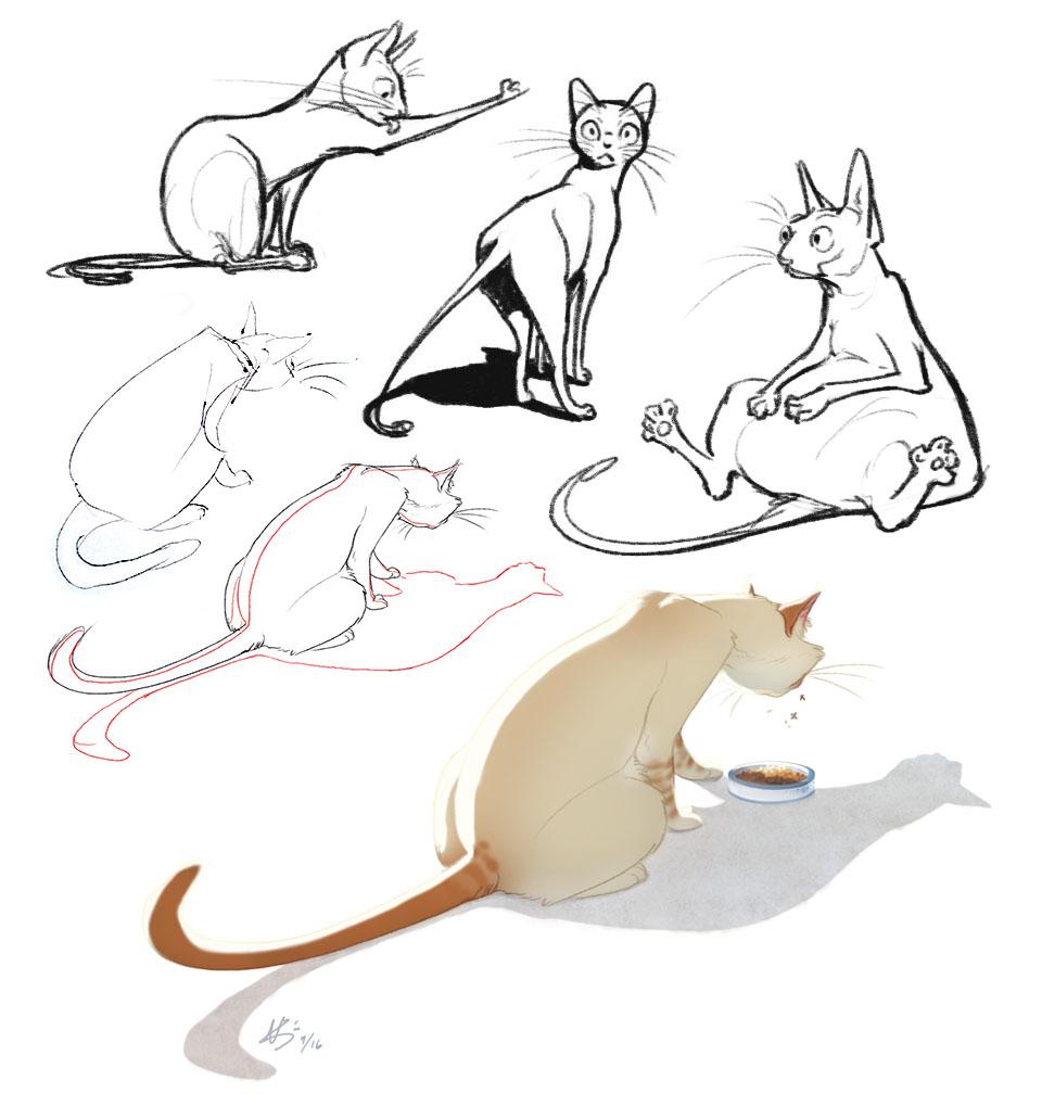 Cat doodles (2016)