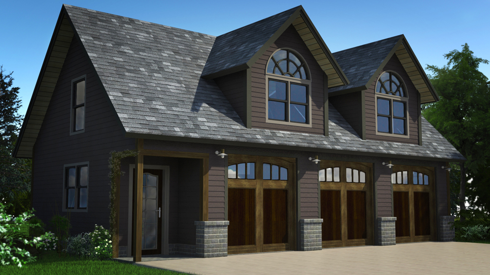 Size: 3-car700 sq. ft. above garage -
