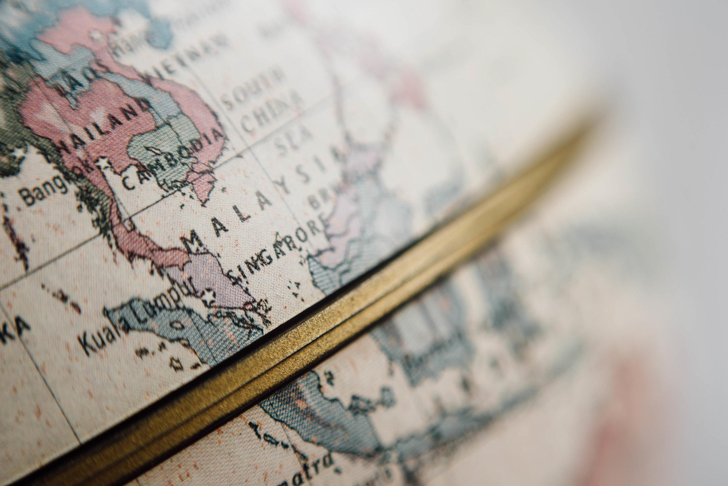 Carte du monde - Agence de voyage tourisme accessible