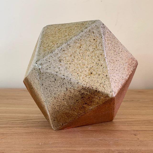 Three small vases/ sculptures from our recent firing. . . . #ceramics #pottery #anagama #art #woodfiredpottery #icosahedron #catalansolid #keramik #design #naturallight #jglceramics