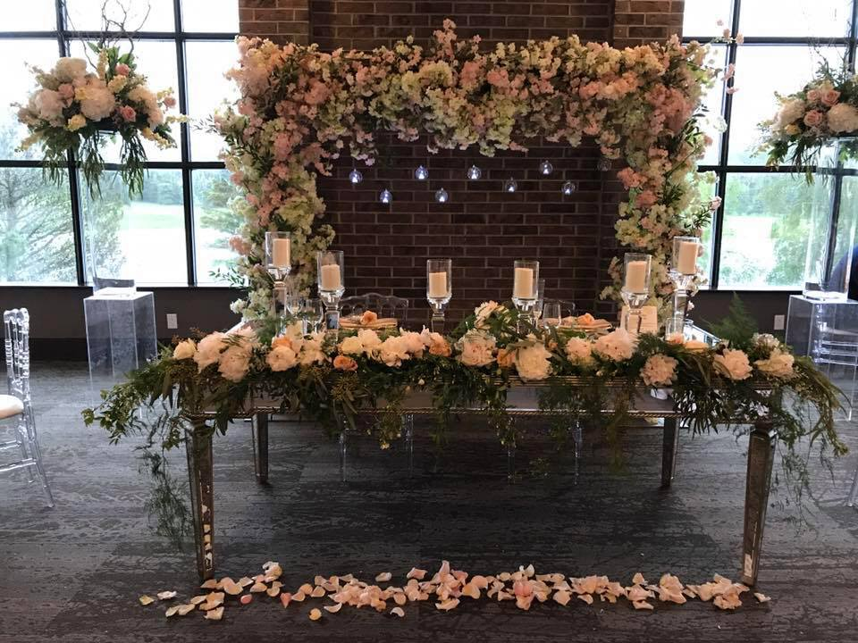Port Dover wedding head table