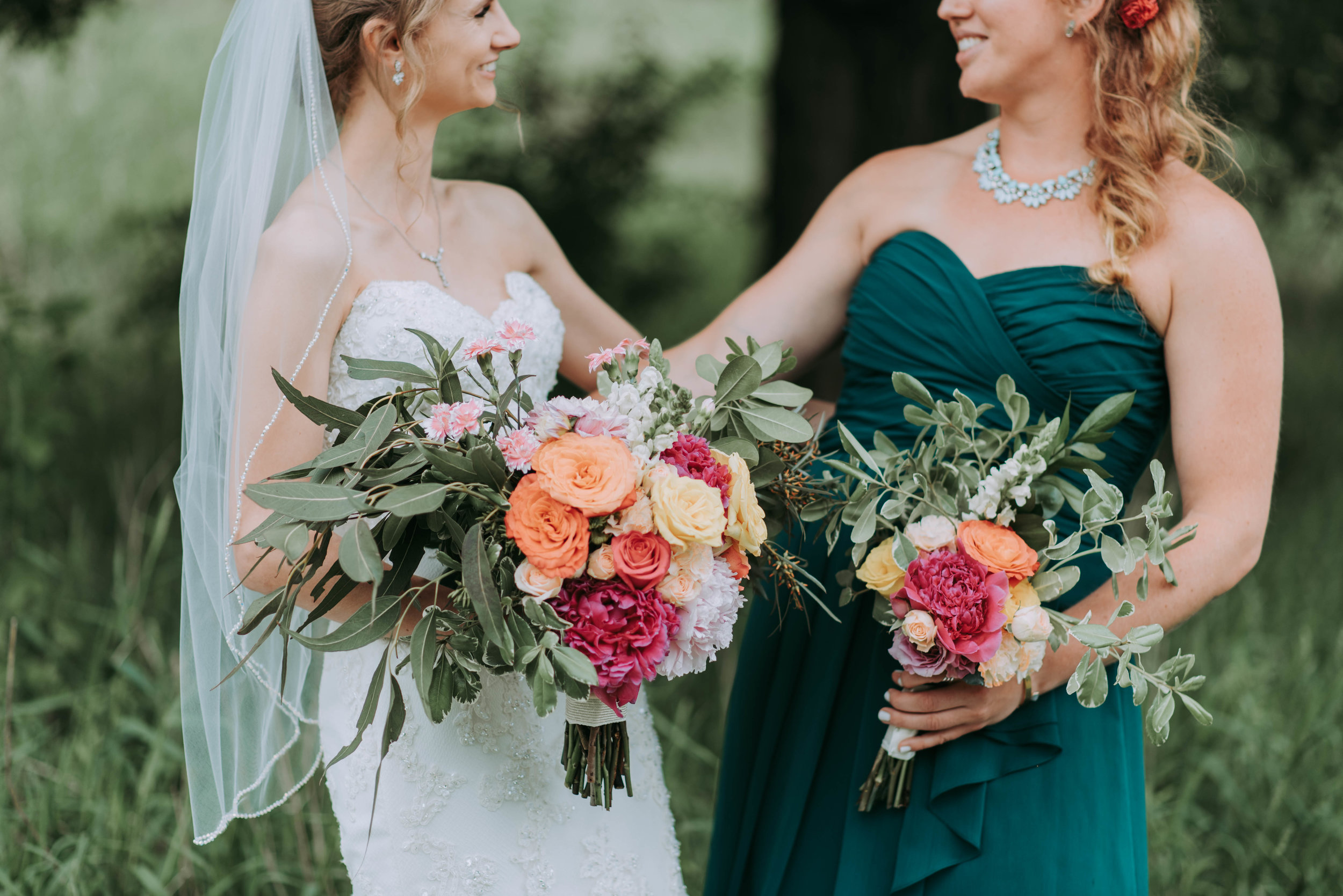 Port Dover Flowers wedding Bride and bridesmaid
