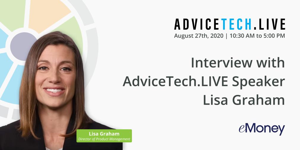 interview with advicetech live speaker lisa graham of emoney advisor asset map advicetech live speaker lisa graham