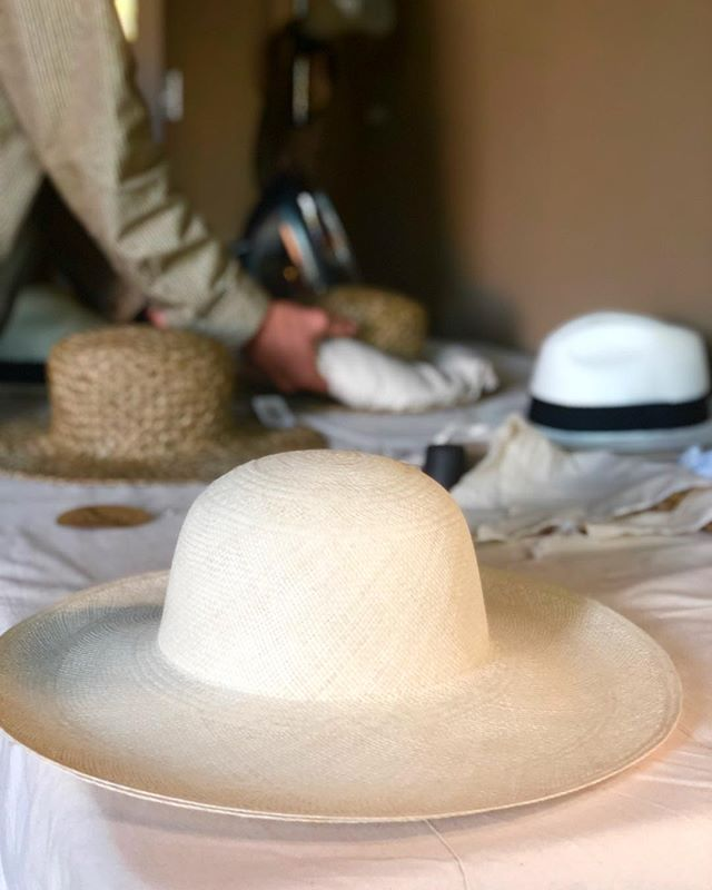 @babysimms is shaping, prepping and packing for this weekends #encinitasstreetfair ☀️ swing by and hang with us 🎩 | ft. poolside from the handwoven panama collection