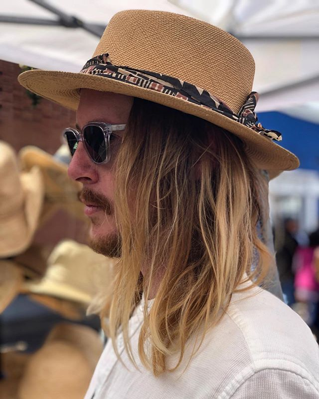 @babysimms and his custom Viñales hat @ the #encinitasstreetfair 🌼