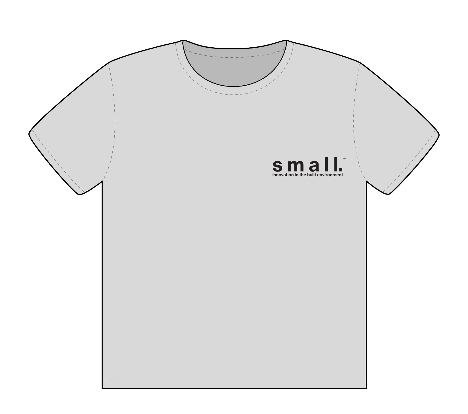 small. works t-shirt | FRONT