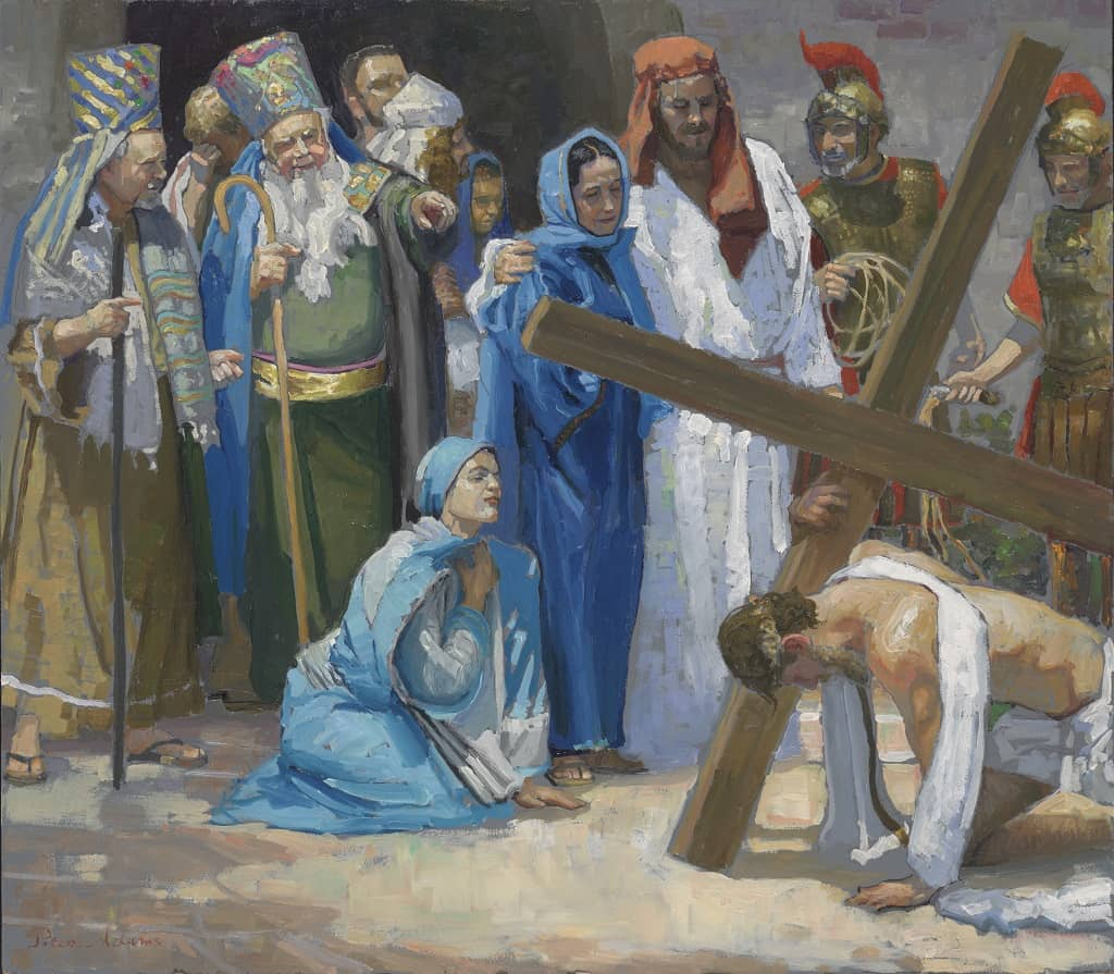 Picture Stations of the Cross (3) Jesus Falls for the First Time by Peter Adams