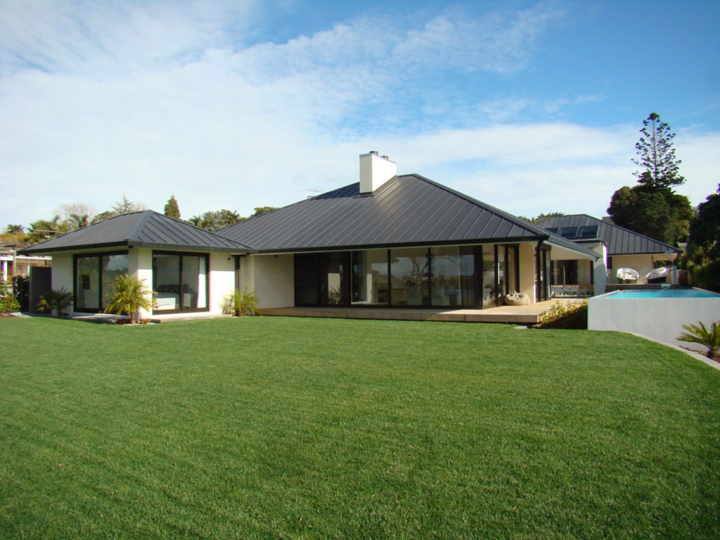 Takapuna - 1 level | Masonry and Timber Framing | New Build