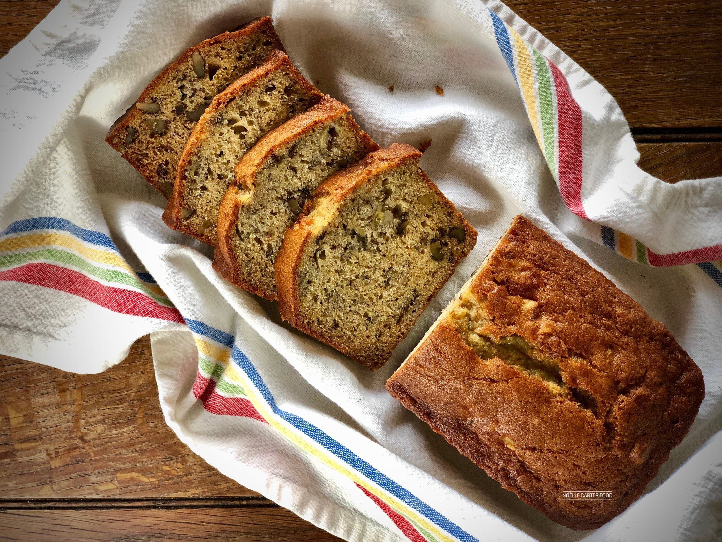 Browned butter banana nut bread. (Noelle Carter)