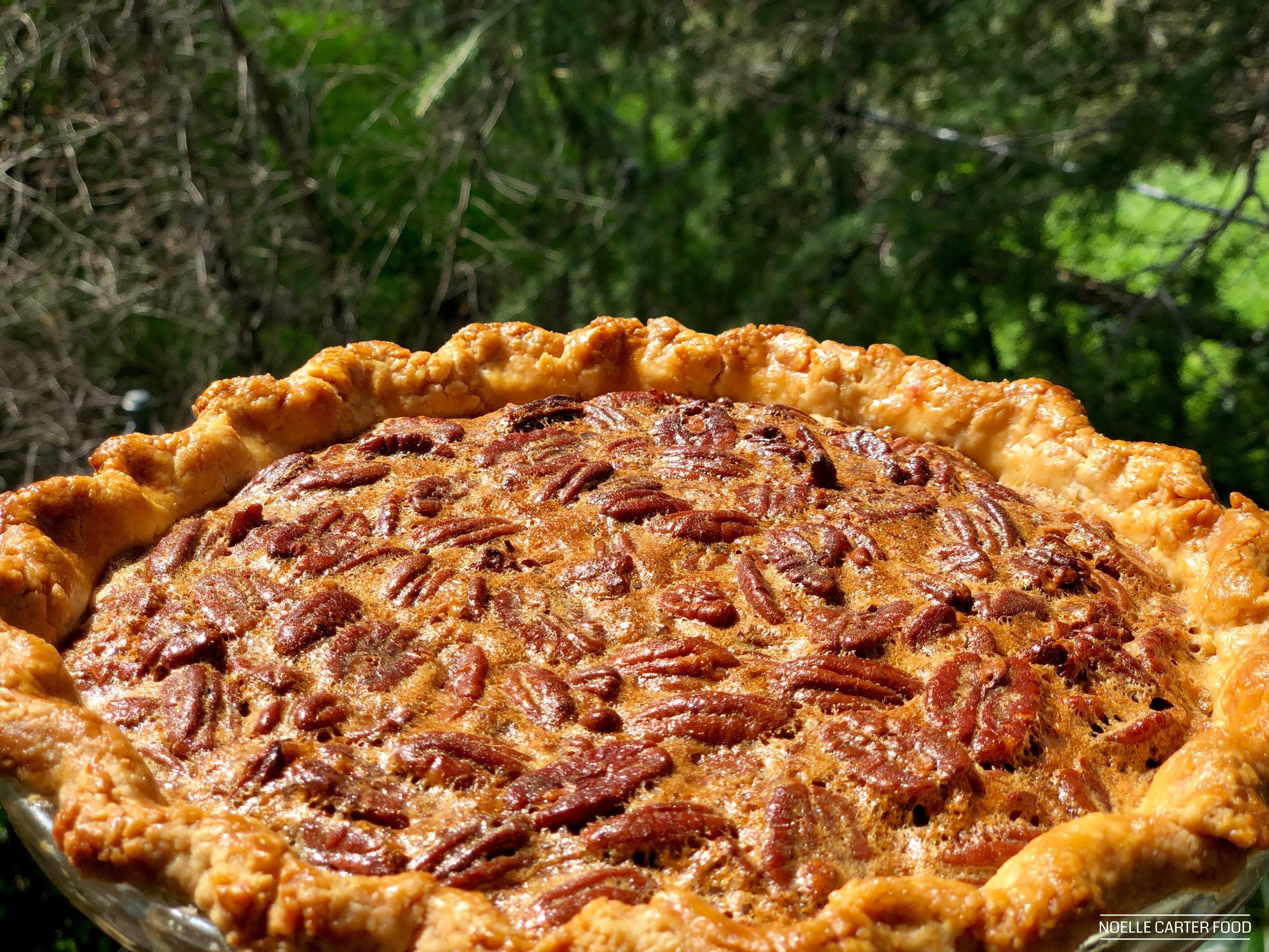 Bourbon and brown sugar pecan pie recipe. (Noelle Carter)