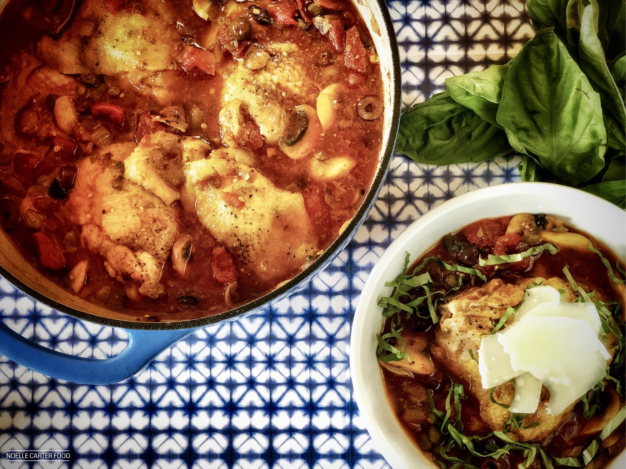 Weeknight chicken stew. (Noelle Carter)