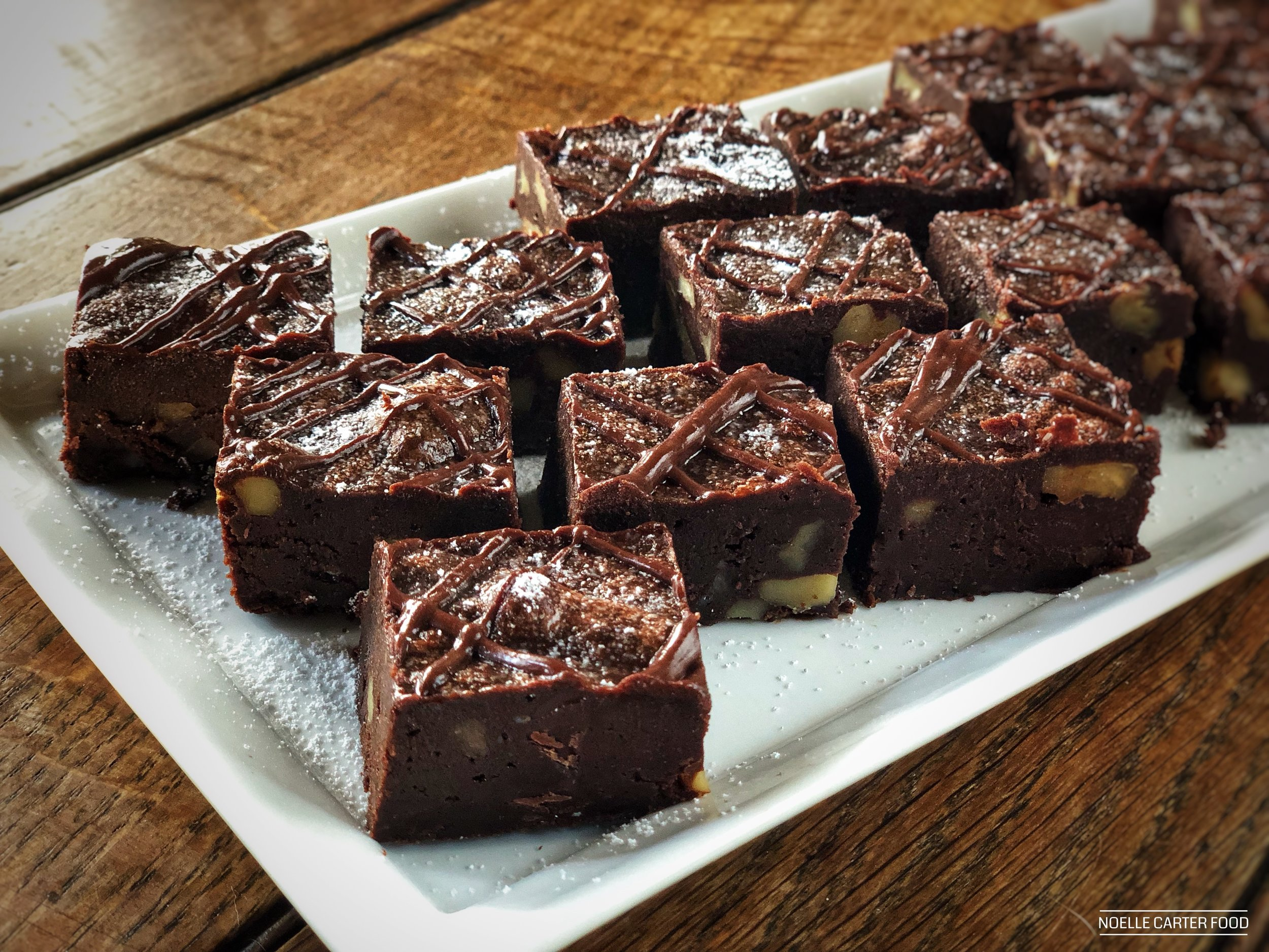 Triple chocolate brownies. (Noelle Carter)