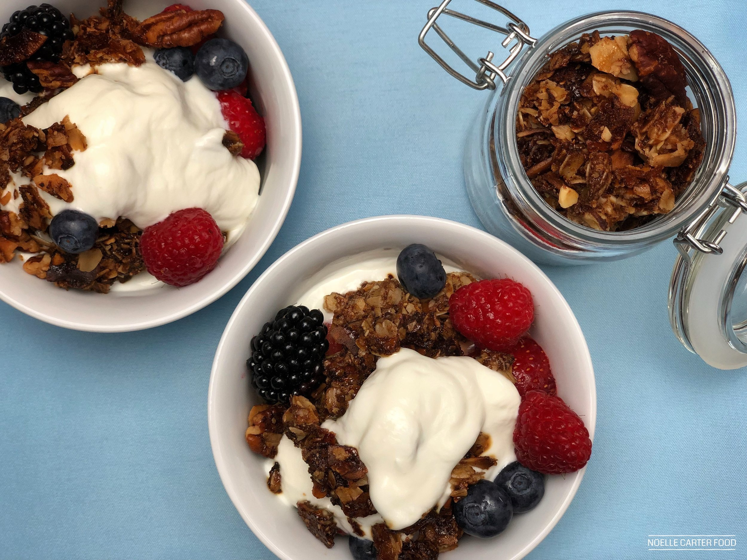 Fruit and yogurt with homemade granola. (Noelle Carter)