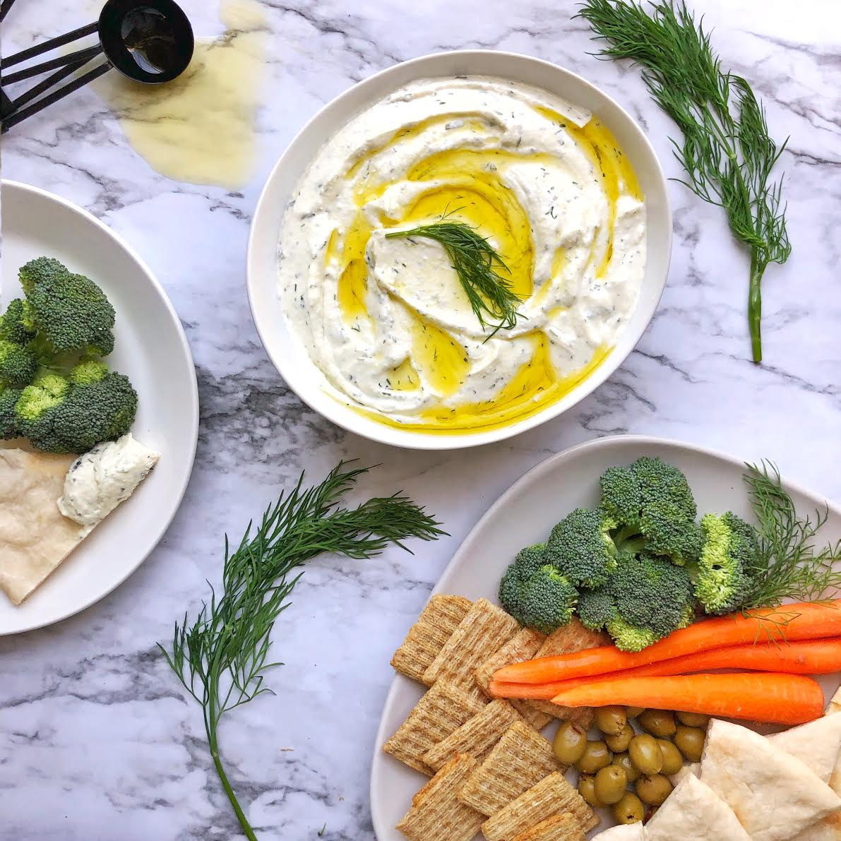 Dill and mint feta dip. (Dylan Simmons)