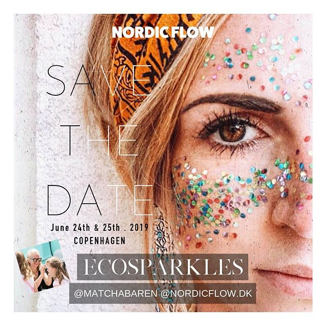 @ecosparkles_bioglitter are giving us all a shine of sparkles on the magic days 🌙🌿🔥🙌🏻💖 can't believe we are only 4 days away now  Go get your ticket at nordicflow.dk 🌈  #nordicflow #unionofthenorth #consciousworkshops