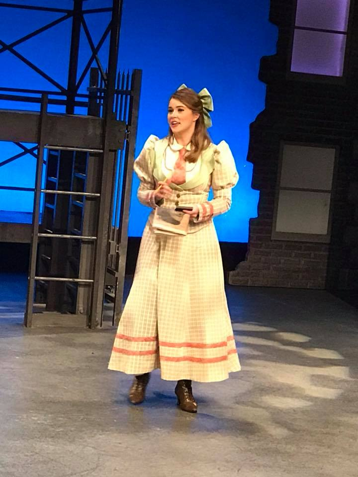 Katherine Plumber in  Newsies  at Cortland Repertory Theatre