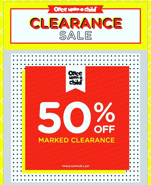 Clearance Sale Continues.... until Friday June 28th - 50% off RED TAGGED APPAREL.