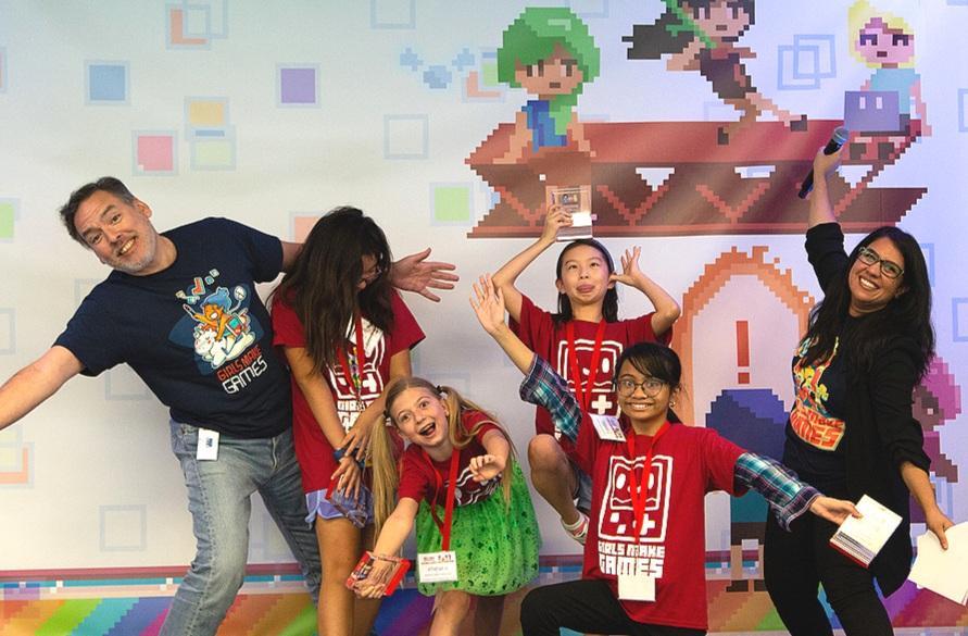 Team Members: Olivia M., Ysidana C., Kaiya C., Athena H. Demo Day Award: Most Fun, presented by Shawn Layden, Chairman WWS, PlayStation
