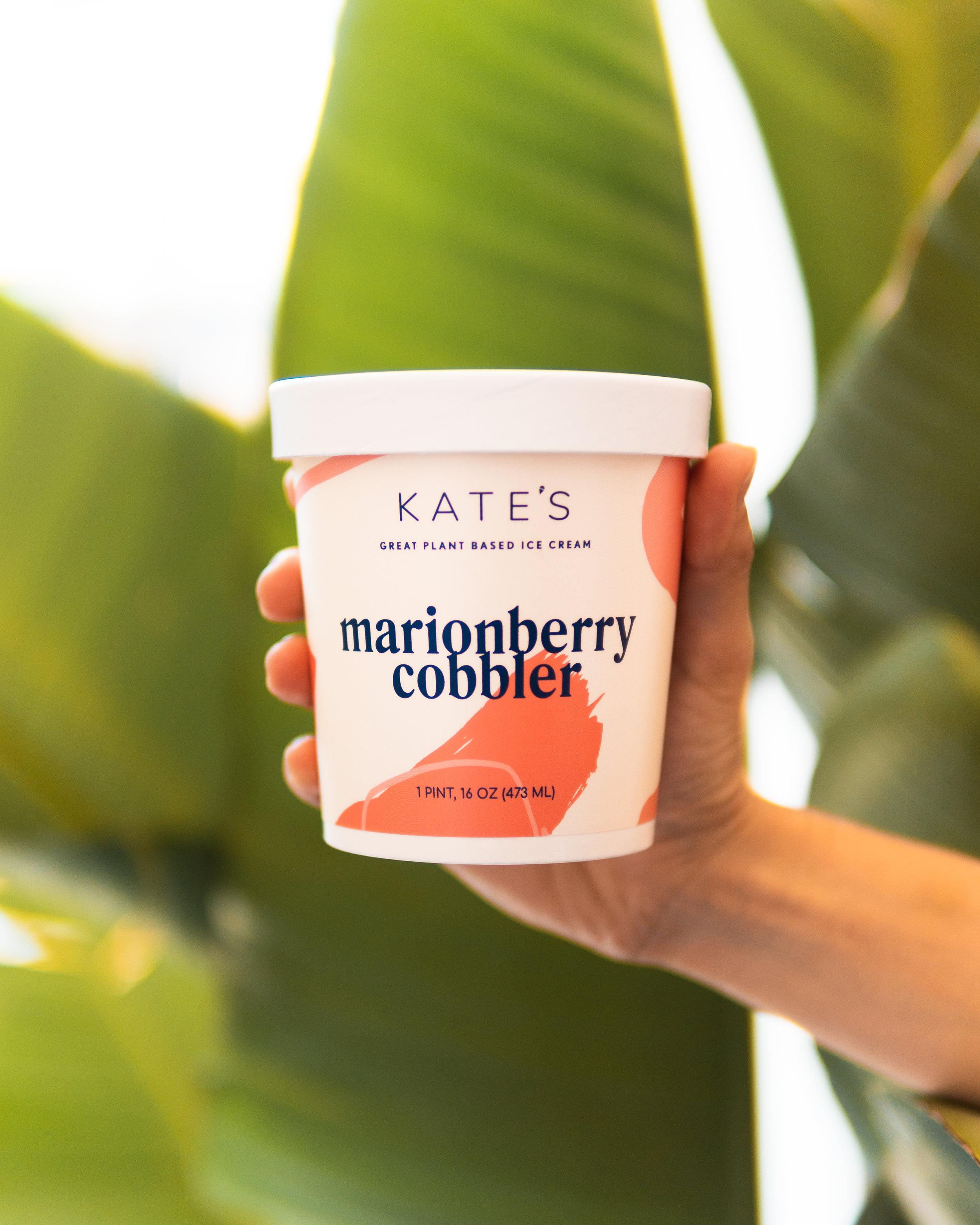 *coconut milk, *cane sugar, tapioca syrup, oregon marionberries, *vanilla extract, walnuts, almond flour, gluten free oats, Faba butter, vanilla beans, *coconut oil, lemon juice, molasses, *cinnamon, black pepper, sea salt, sunflower lecithin, nutritional yeast, arrowroot.  contains: walnuts, almonds, coconut  *organic ingredient