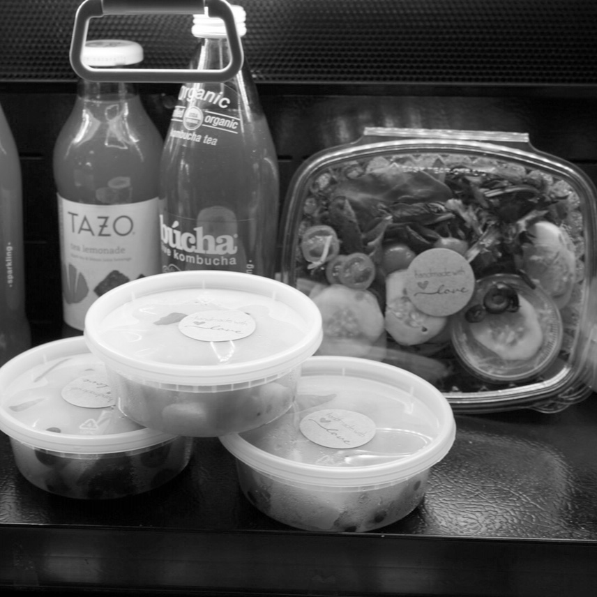 GRAB & GO FOOD   In a rush? Pop in and grab a blueberry kale or pasta salad and a delicious sandwich already packed and ready to go!