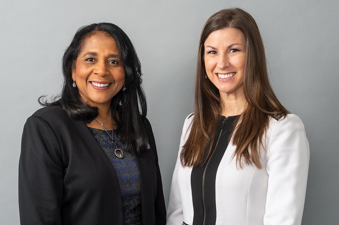 Greiner with mentor Dr. Angela Walker Franklin, President and CEO, Des Moines University