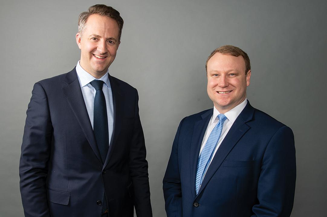 Palmer with mentor Matt McKinney, Partner, Brown Winick Law Firm