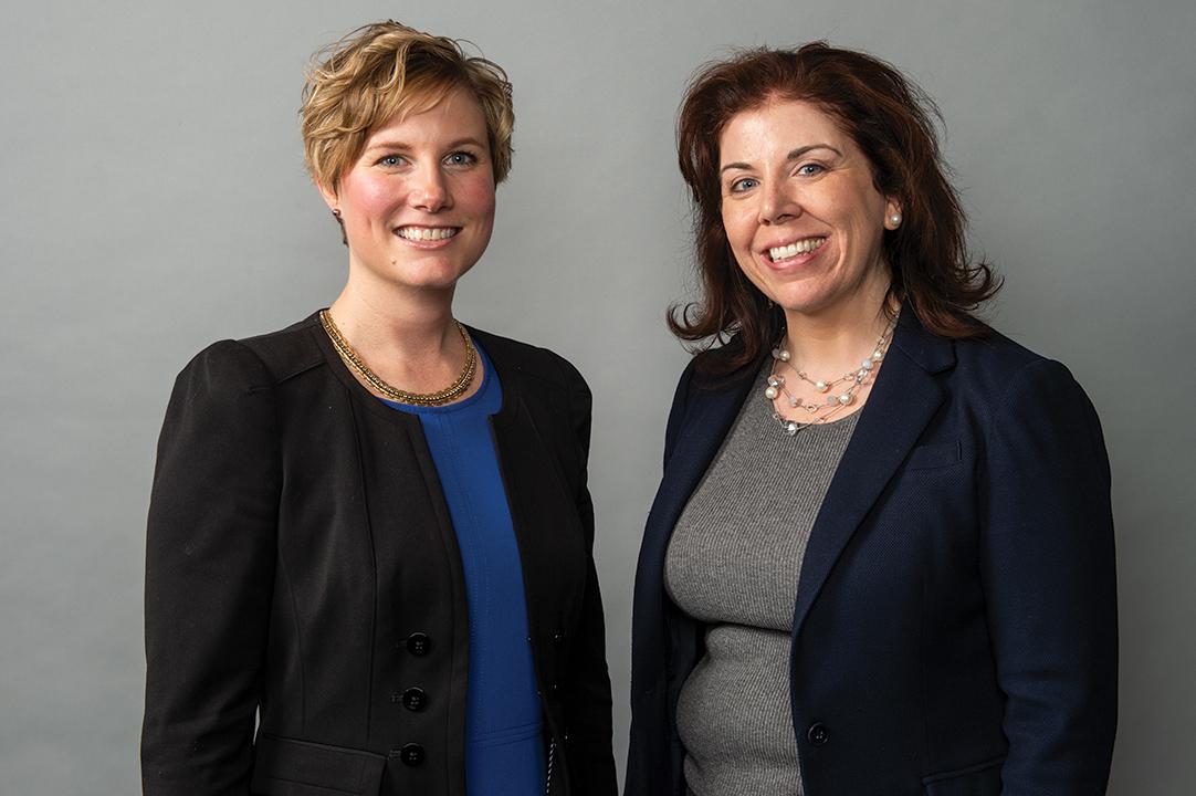 Stull with mentor Elizabeth Presutti, CEO, DART