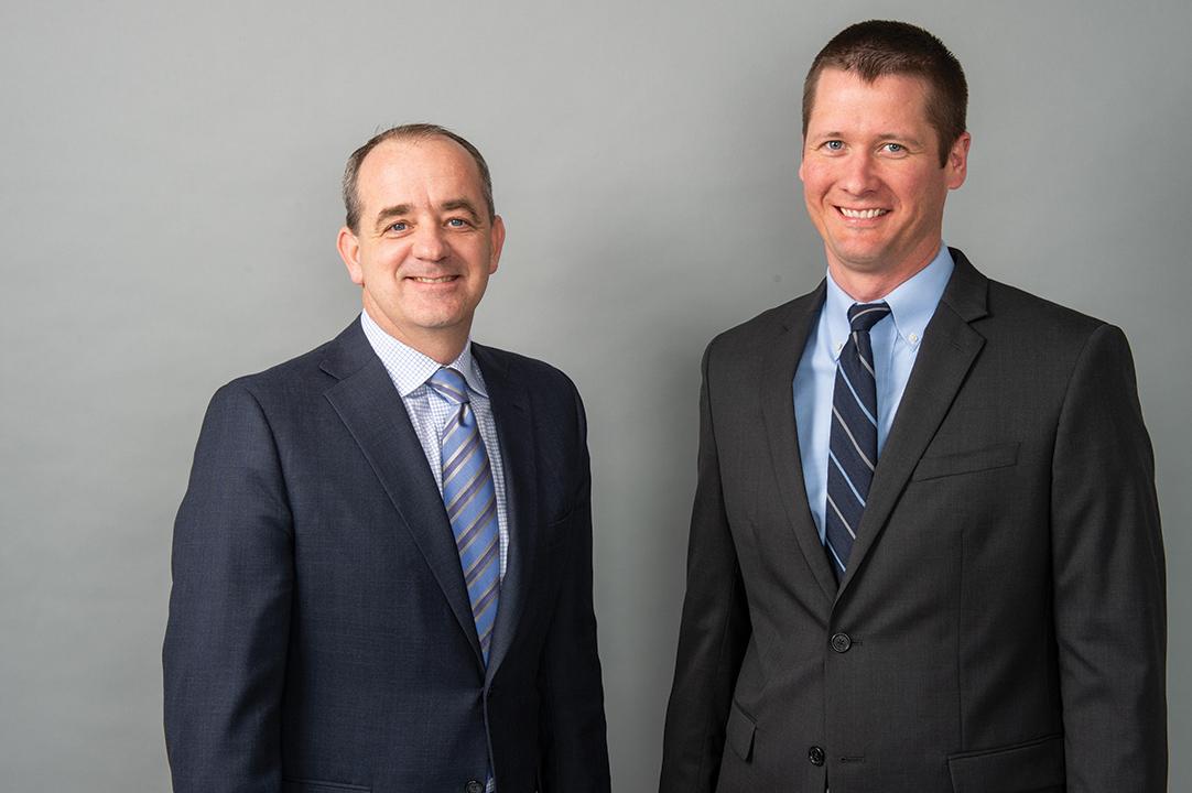 Van Loon with mentor Brad Schoenfelder, President – Midwest Region, Ryan Companies US, Inc.
