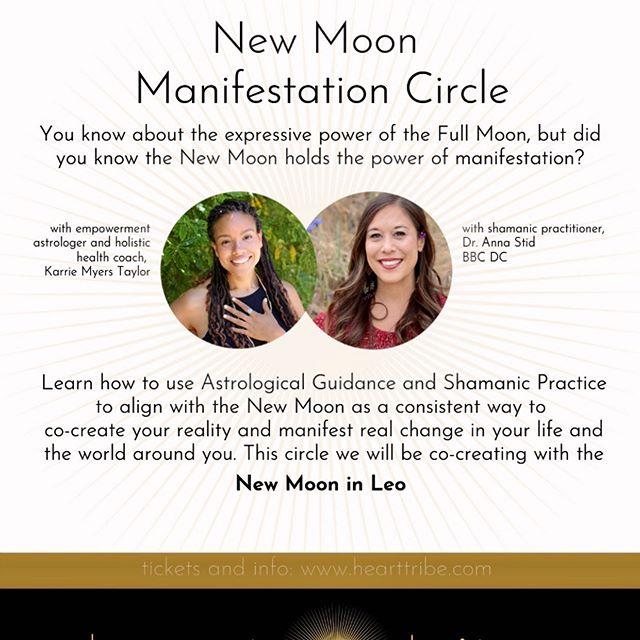 DATE IS SUNDAY JULY 28th!!! New Moon Manifestation Cirlce #newmoon #ritual #magic #circle #shaman #shamanism #chiropractic #newmoonritual #hearttribefairfax #hearttribe