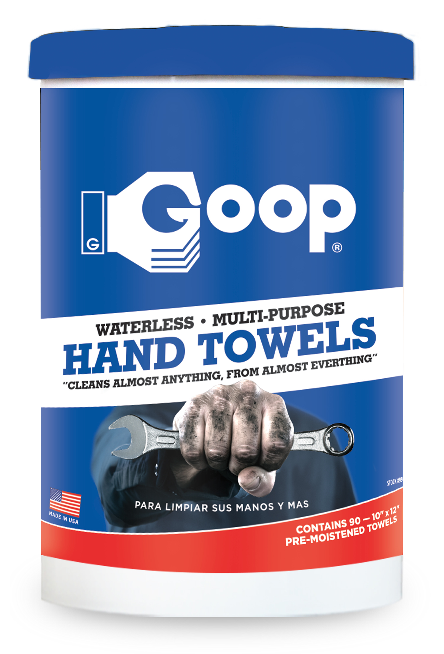 """Can of 90, 10"""" x 12"""" Goop Towels"""