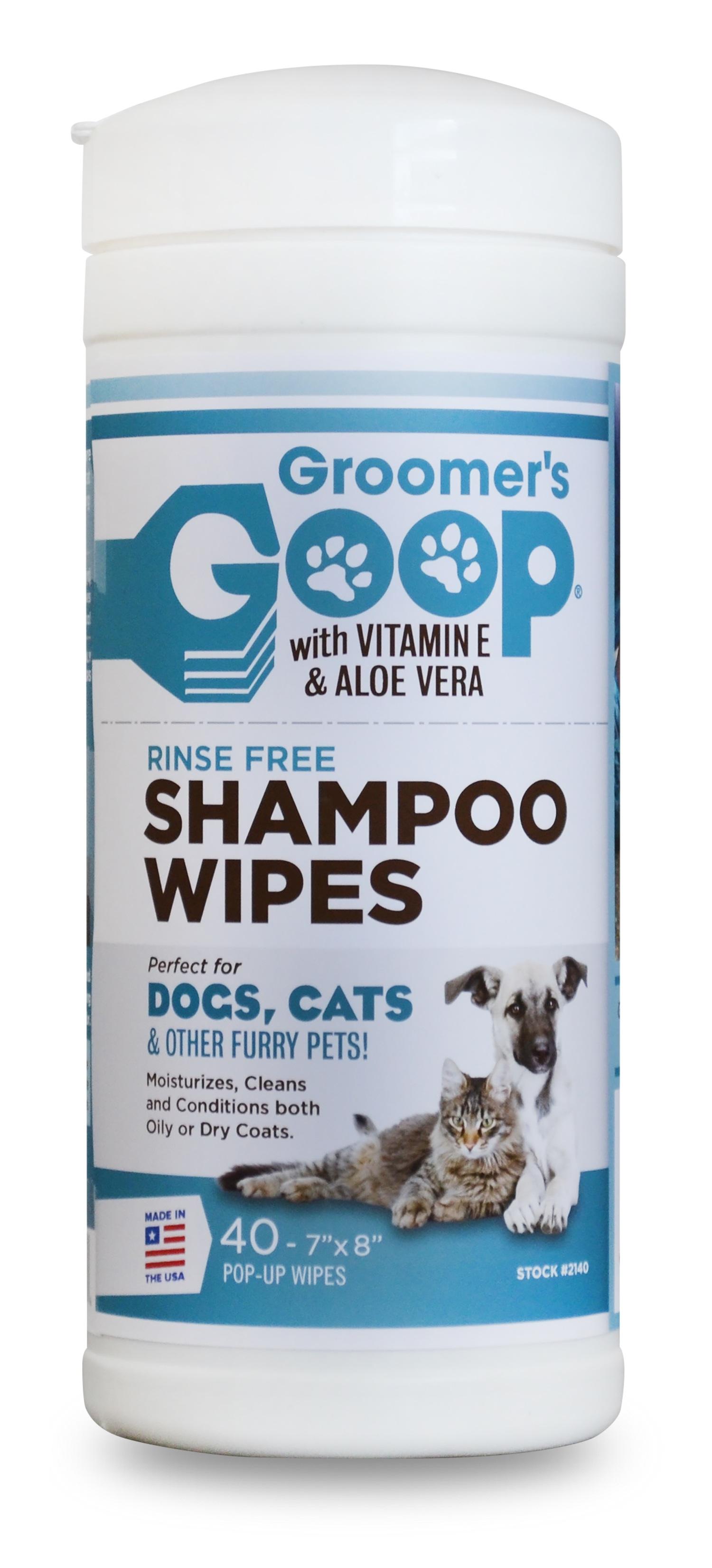 "Groomer's Goop Shampoo Wipes- 40, 7"" x 8"" Pop-up Wipes"