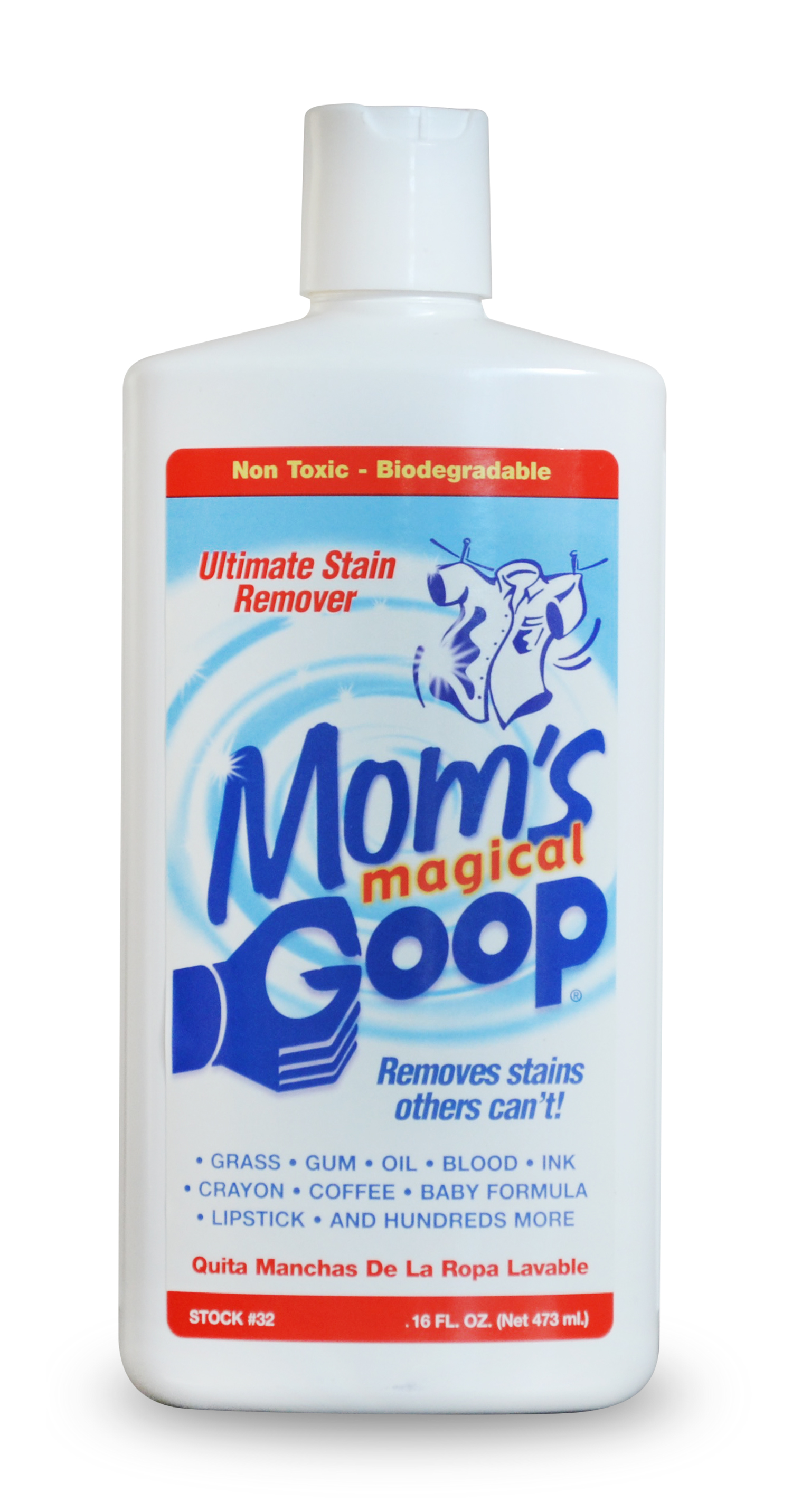 Mom's Goop Liquid Stain Remover, 16 oz.  Bottle