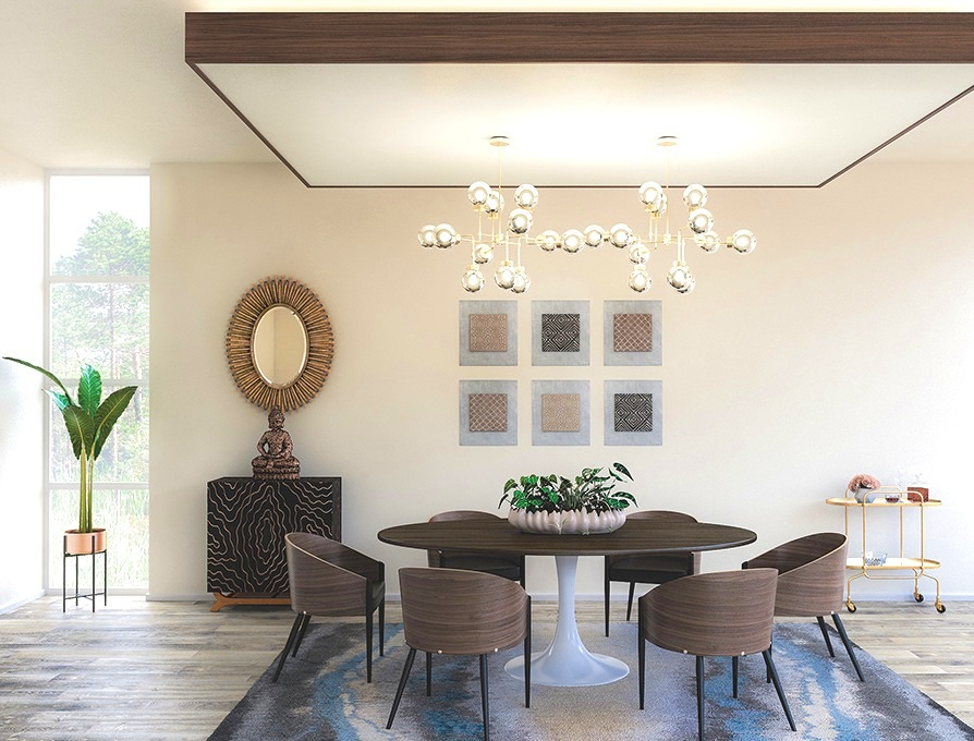 Get Inspired: Modern Zen Dining Room - T. Archer Design keeps it clean with neutral palettes and natural materials with her Modern Zen Dining Room design.