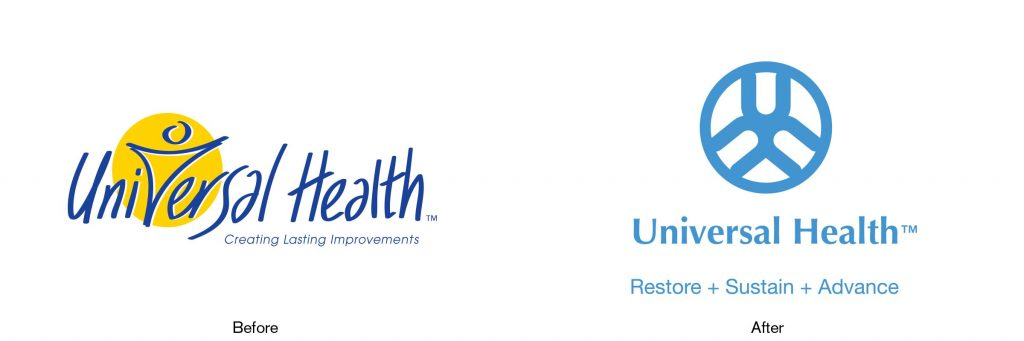 Universal Health, Logo, Black Swatch, Logo makeover, Logo rebrand