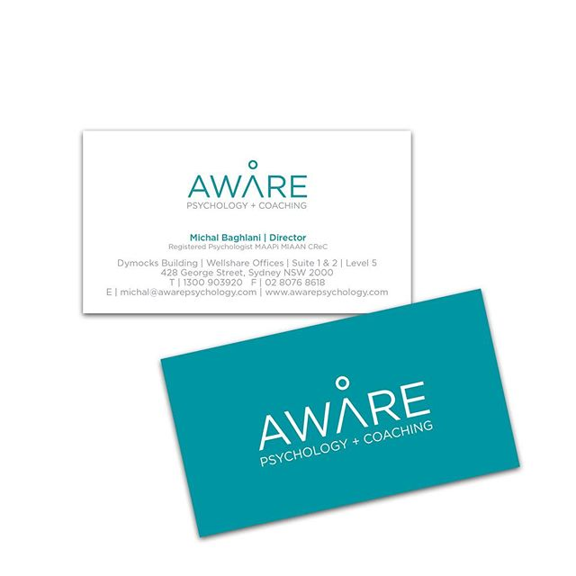 Aware Psychology + Coaching have just had a rebrand with @black_swatch 🖤 They are all about retraining the brain 🧠 The letter A symbolises the human body and the circle is the head, referring to the neurons connecting in the brain, and the extended part of the A is the arms/body of the patient. The minimal approach is to not over complicate the healing process for the patient. Check them out @awarepsychology #holistic #psychology #coaching #rebranding #graphicdesign #sydneydesigner #entrepreneur #design #logo #logodesign #corporateidenity #branding #businesscards #businesscarddesign